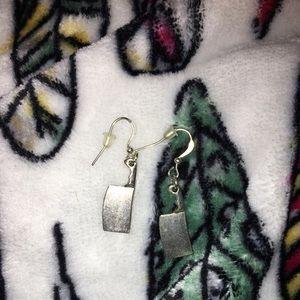 Brandy Melville Sledgehammer edgy silver earrings